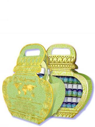 Kalash Gift Bag Large (Luxury Kalash Bag with VedAroma Bottle Stand)