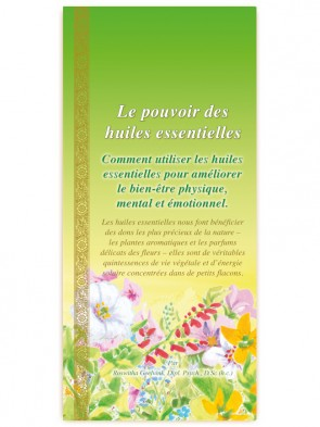 Power of Essential Oils booklet,  52 pages, French